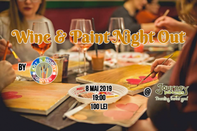 poze wine paint night out