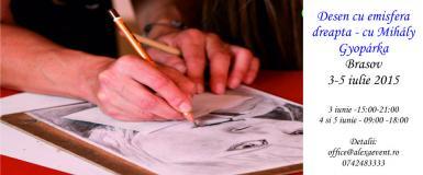 poze workshop desen cu emisfera dreapta