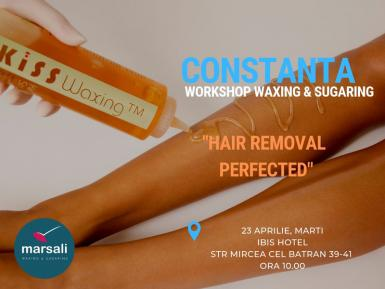 poze workshop waxing sugaring