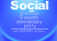9 months anniversary in social pub