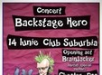 concert backstage hero in club suburbia