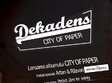 lansare album dekadens city of paper