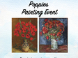 poppies painting event 23 aprilie