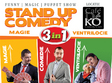 stand up comedy magie si ventrilocie 3 in 1
