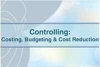curs controlling costing budgeting cost reduction