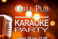 karaoke party in grill pub